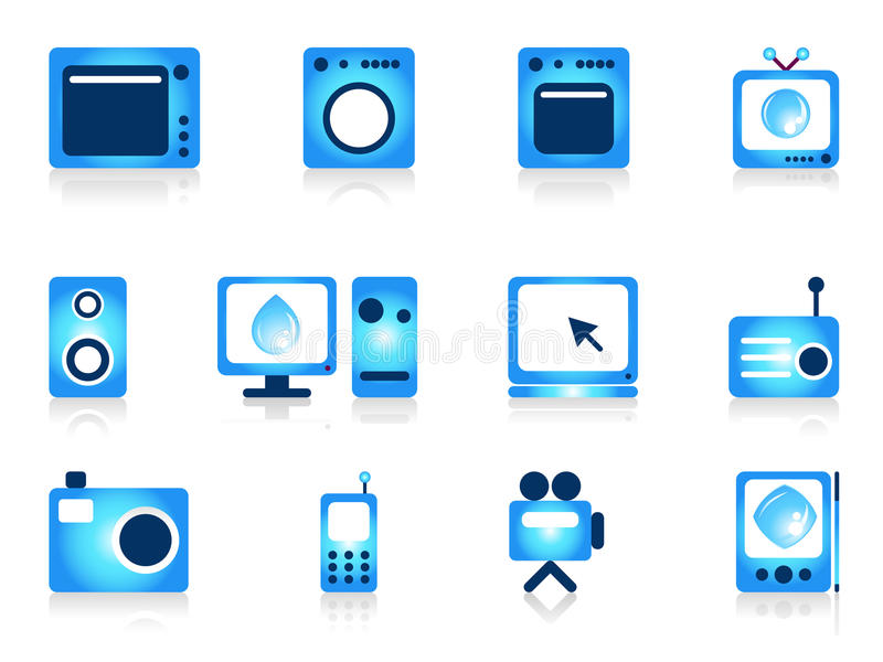 Home appliance objects set. vector illustration