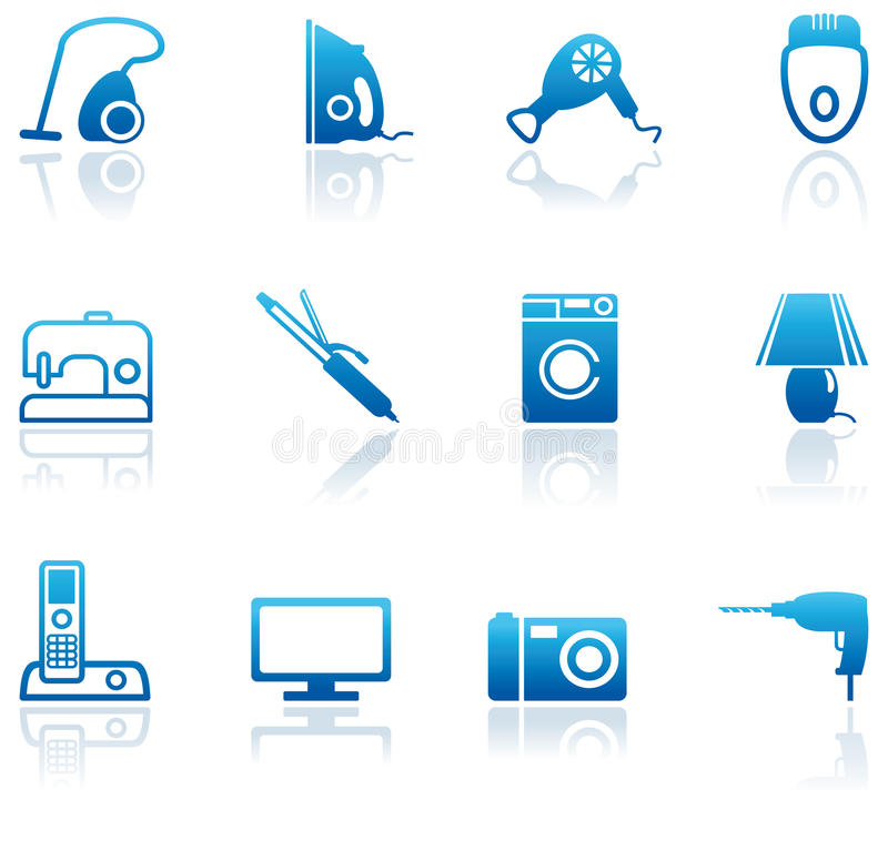 Home Appliances Icons Stock Images