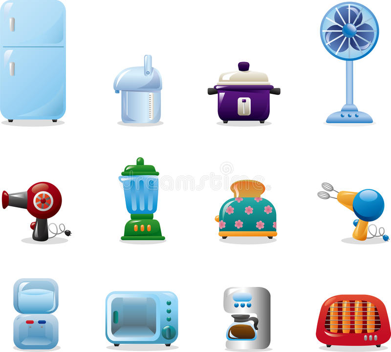 Download Home appliances icons stock illustration. Illustration of illustration - 23739482