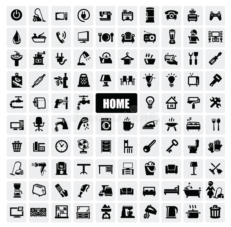 Free Home Appliances Icons Stock Image - 28175291