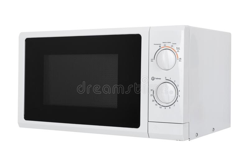 New white microwave oven isolated on white background royalty free stock images