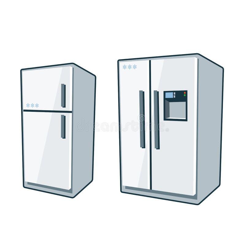 Home Appliances 1 Refrigerators Stock Vector