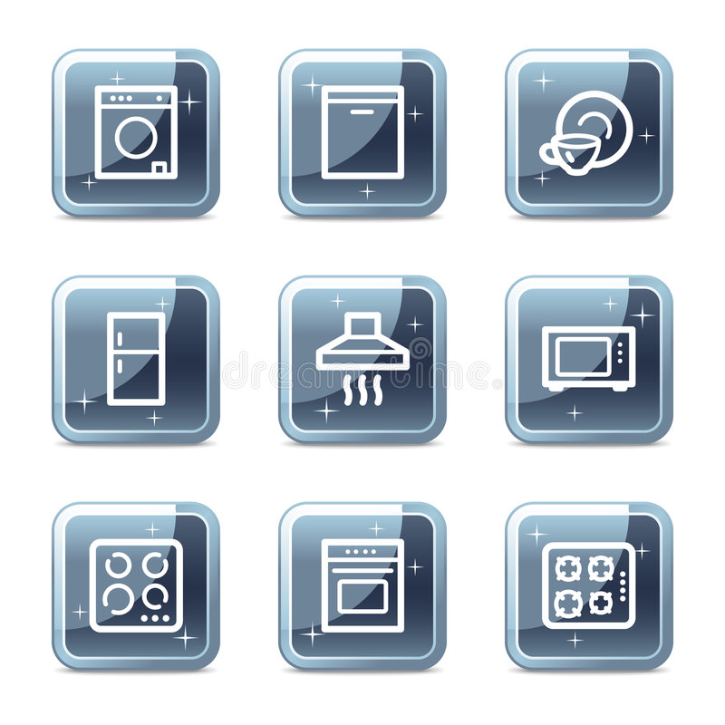 Home appliances web icons vector illustration
