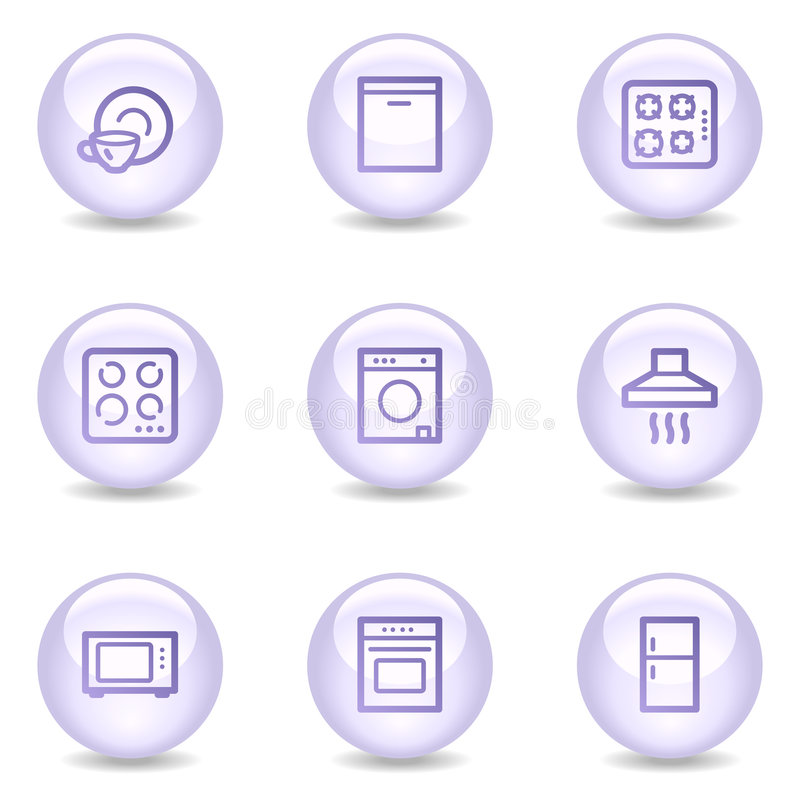 Download Home Appliances Web Icons, Glossy Pearl Series Stock Vector - Illustration of purple, icons: 8545665