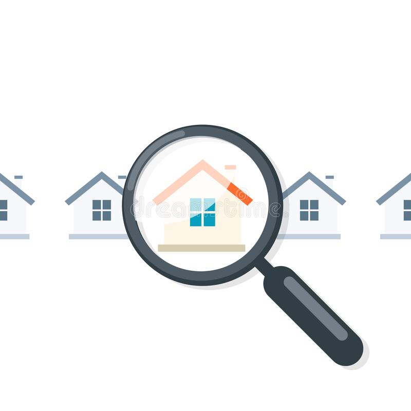 Home appraisal icon vector illustration