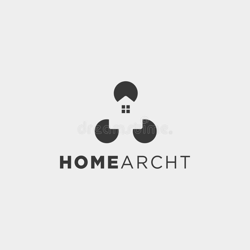 Home architect logo minimalis design vector icon element. Isolated stock illustration