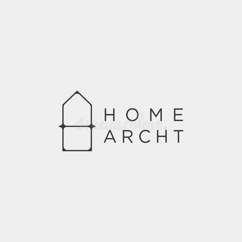 Home architect logo minimalis design vector icon element. Isolated royalty free illustration