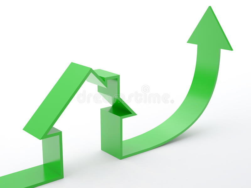 Download Home-arrow stock illustration. Image of household, house - 11220964