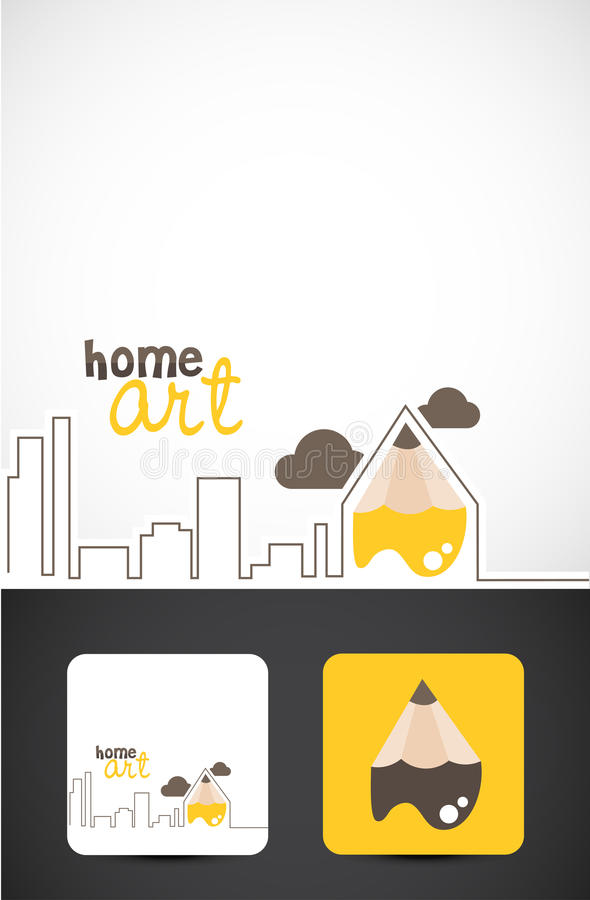 Download Home art logo stock vector. Image of artistic, graphic - 21135982