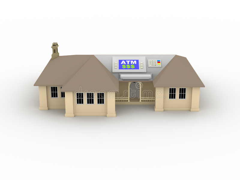 HOME ATM ilustração do vetor