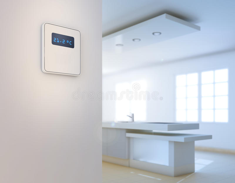 Home automation background. Intelligent house concept stock images
