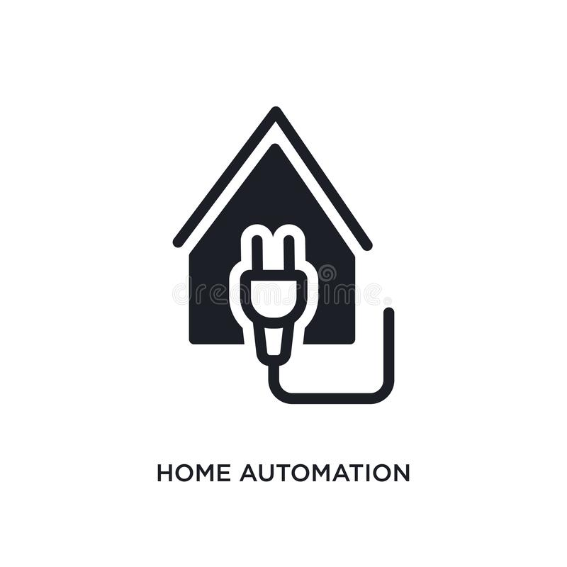 home automation isolated icon. simple element illustration from smart home concept icons. home automation editable logo sign royalty free illustration