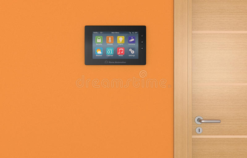 Home automation panel royalty free illustration