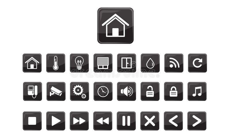 home automation smart home icon set stock vector illustration of computer equipment 48645180. Black Bedroom Furniture Sets. Home Design Ideas