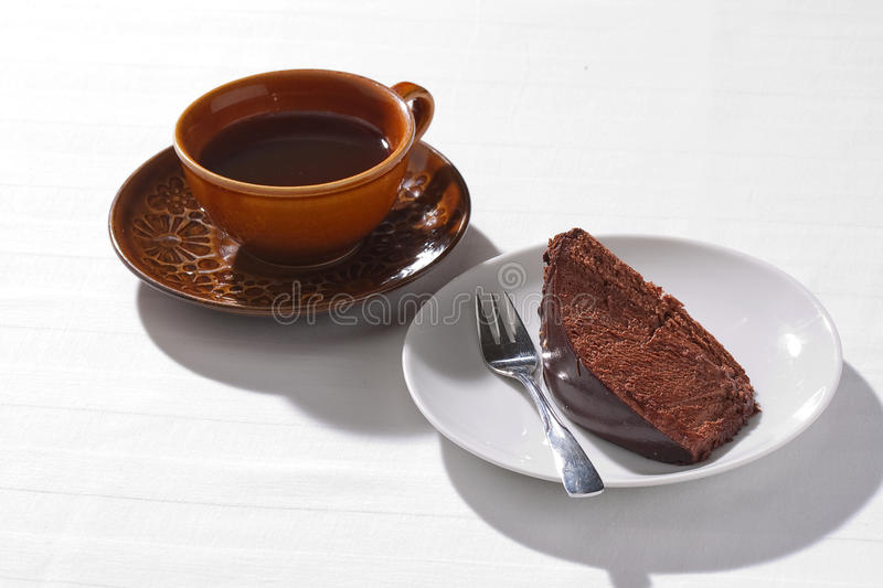 Home-baked chocolate cake stock photography