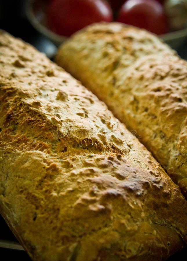 Crusty homemade bread food home baked recipe royalty free stock image
