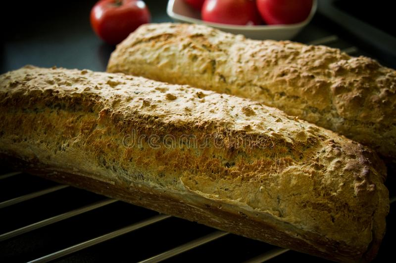 Crusty homemade bread food home baked recipe royalty free stock photos