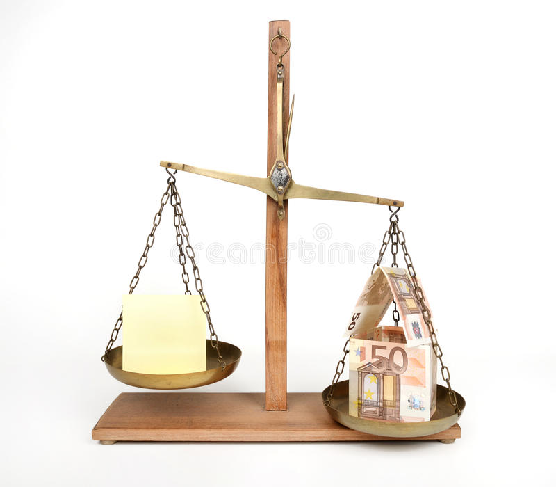 Home balance costs - concept. Home balance costs - business concept stock photography