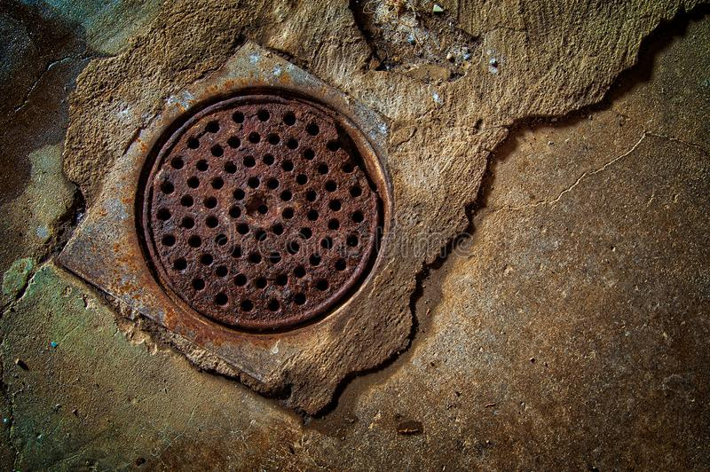 Home Basement Drain stock photos