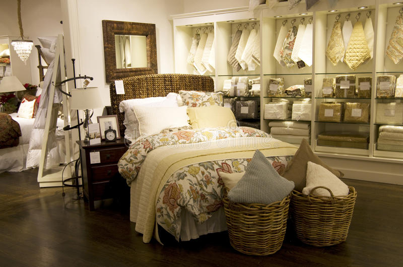 Home bedroom decor furniture store stock photos