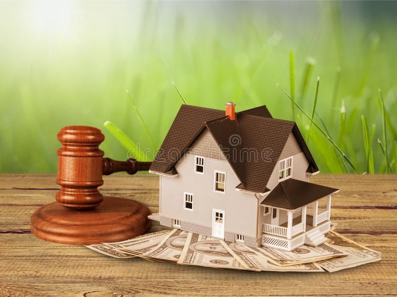 Home being sold royalty free stock photos