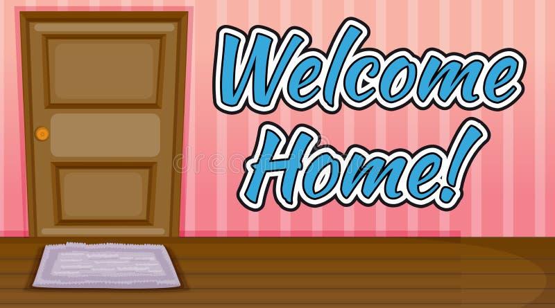 HOME bem-vinda ilustração stock