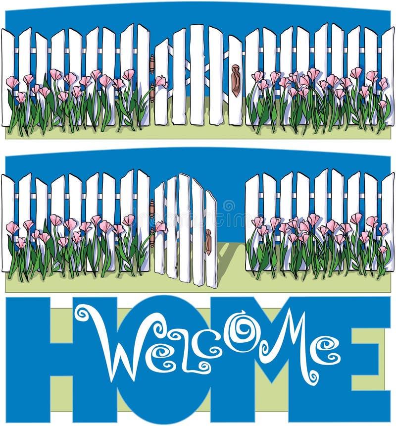 HOME bem-vinda ilustração do vetor