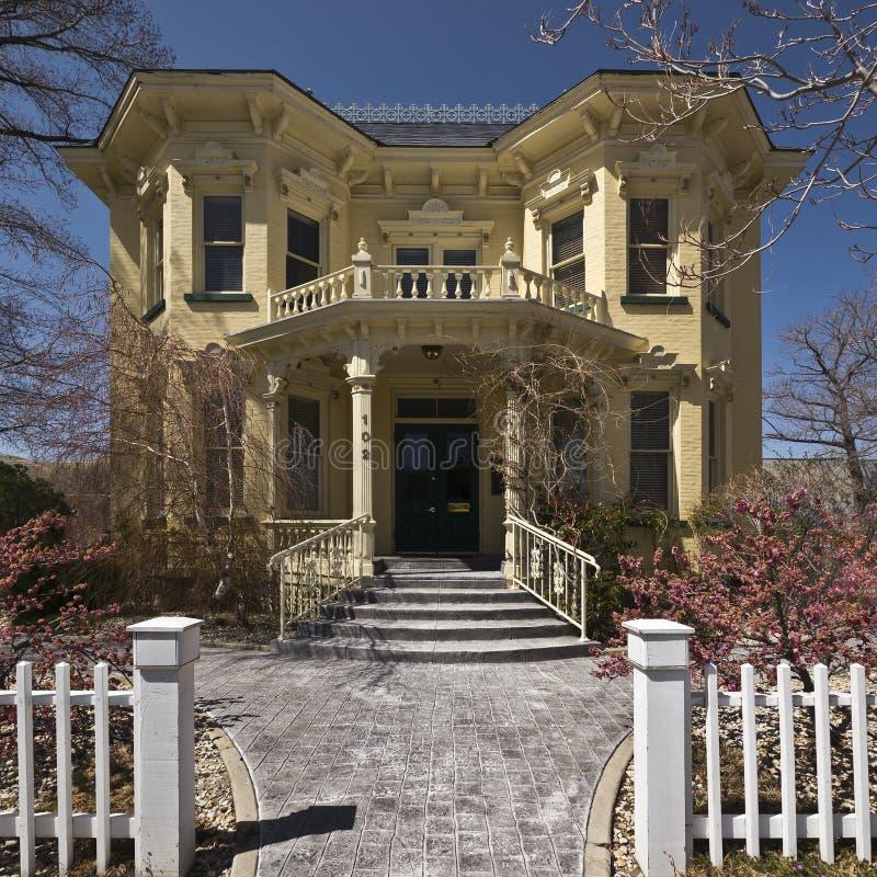 HOME bonita do Victorian foto de stock