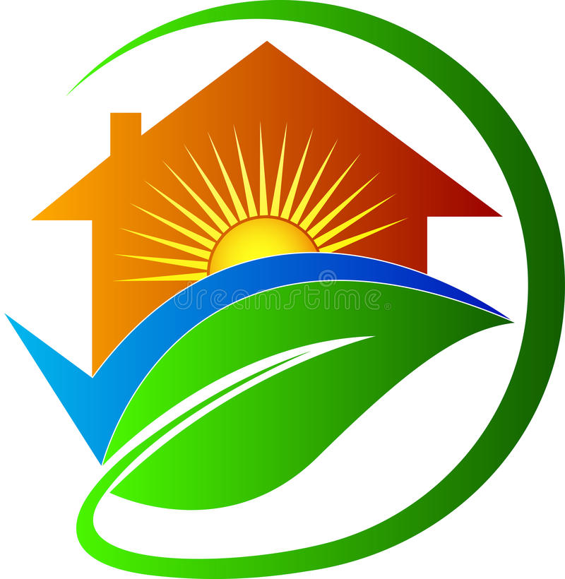 Home for bright future. A vector drawing represents home for bright future design vector illustration