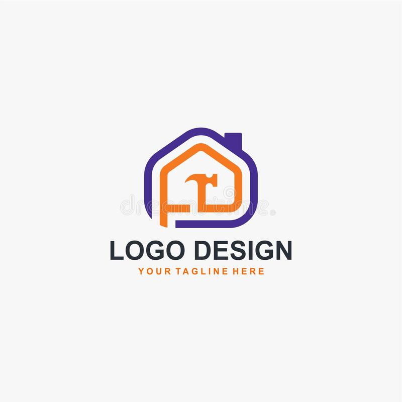 Home builder logo design vector stock photos