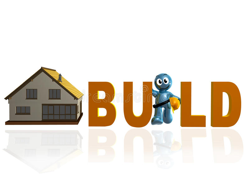 Download Home Builder And Maintenance Icon Stock Illustration - Illustration of home, cute: 12010278