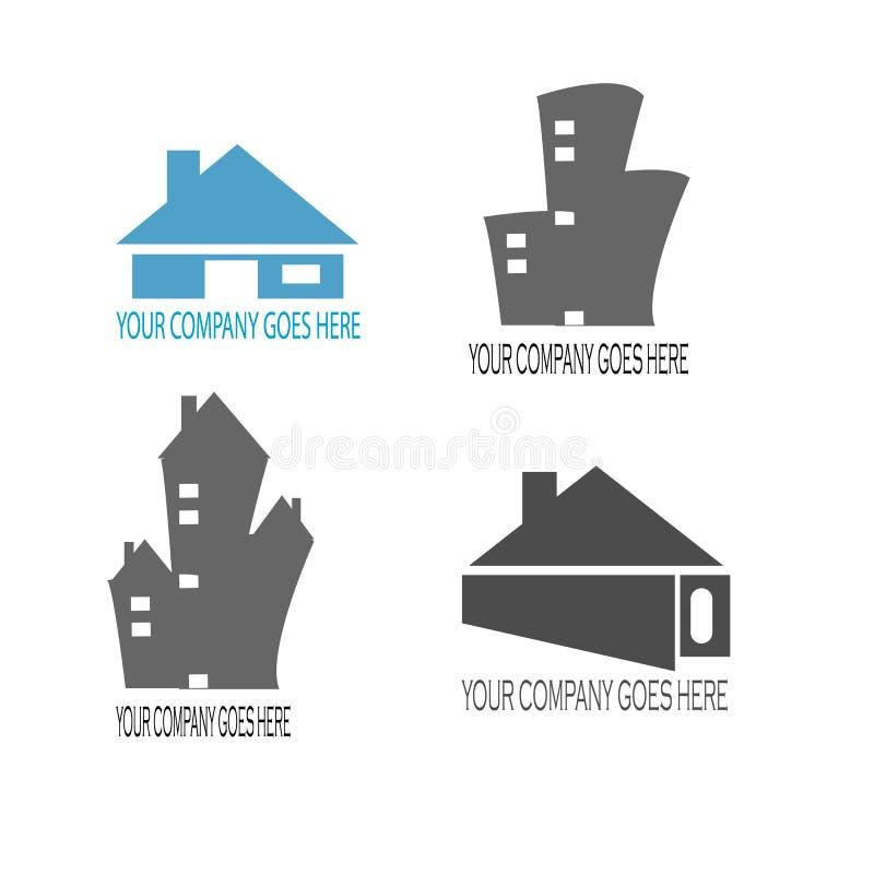 Home and building contruction logo design. Vector vector illustration