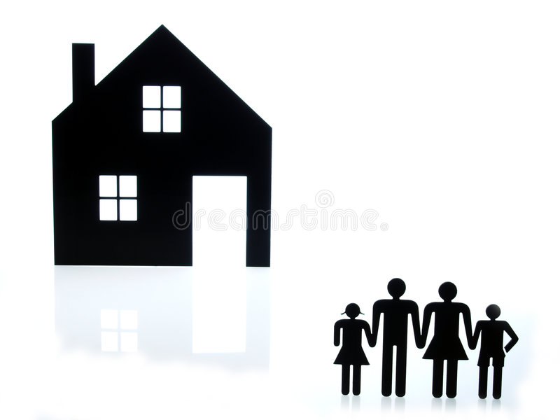 Home building sign and family sign stock photos