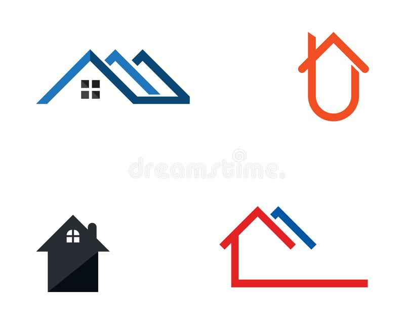 Home buildings logo and symbols icons template stock illustration