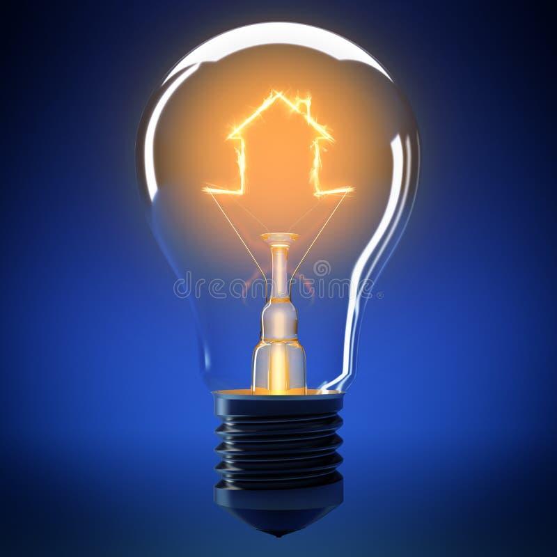 Home bulb light royalty free illustration