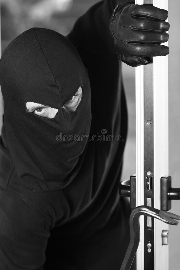 Home burglar royalty free stock images