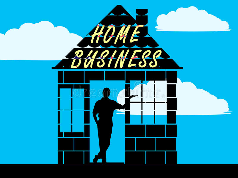 Home business vector illustration