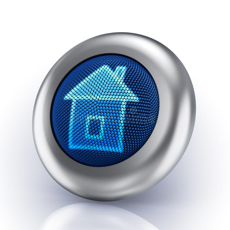 Download Home button stock illustration. Image of blue, online - 14417503