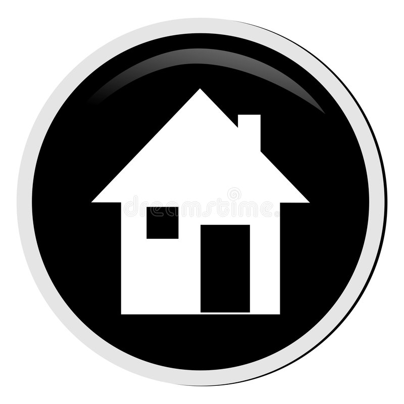 Download Home button stock illustration. Image of black, construction - 5286089