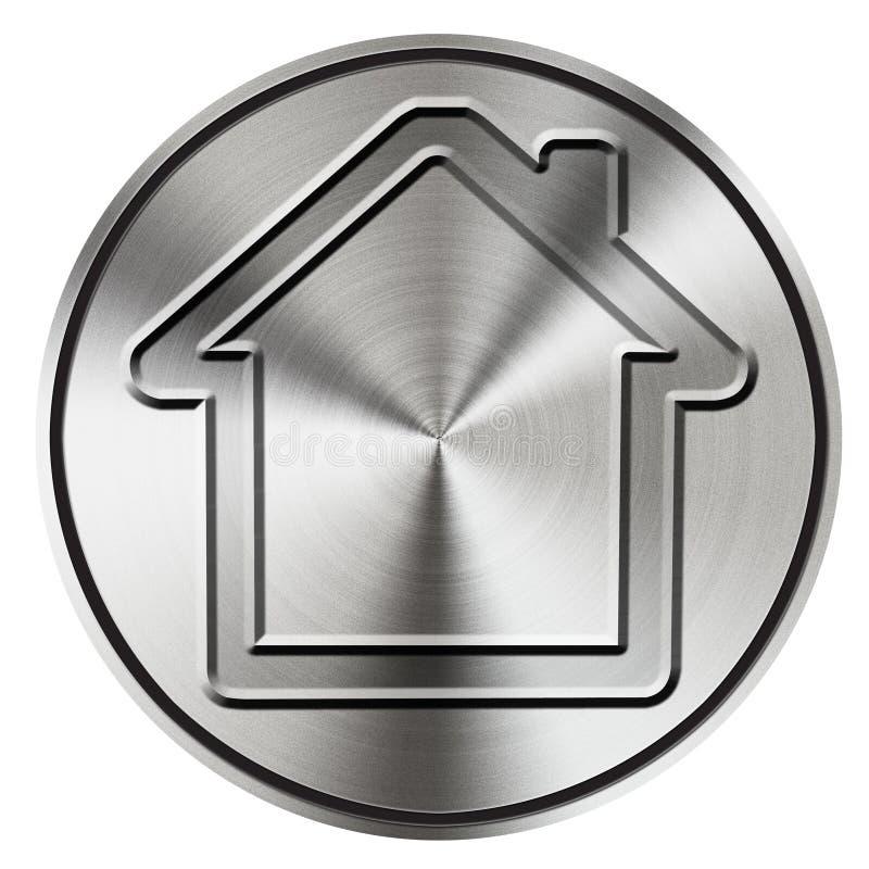 Home button icon royalty free stock photo