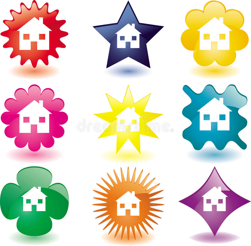Home buttons stock illustration