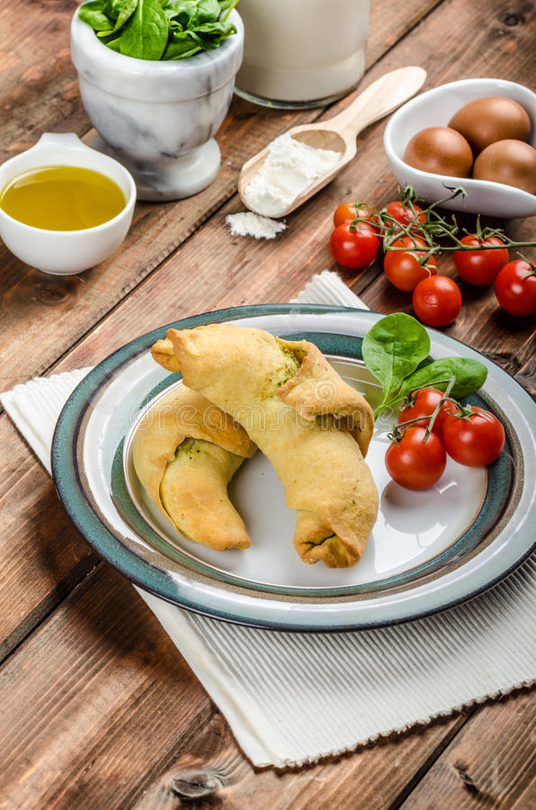 Free Home Calzone Rolls Stock Image - 47828671