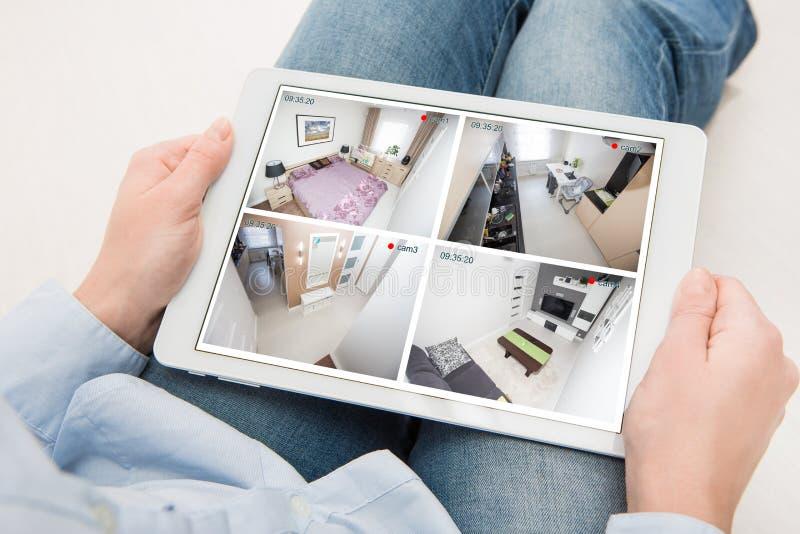 home camera cctv monitoring monitor system alarm smart house video royalty free stock photo