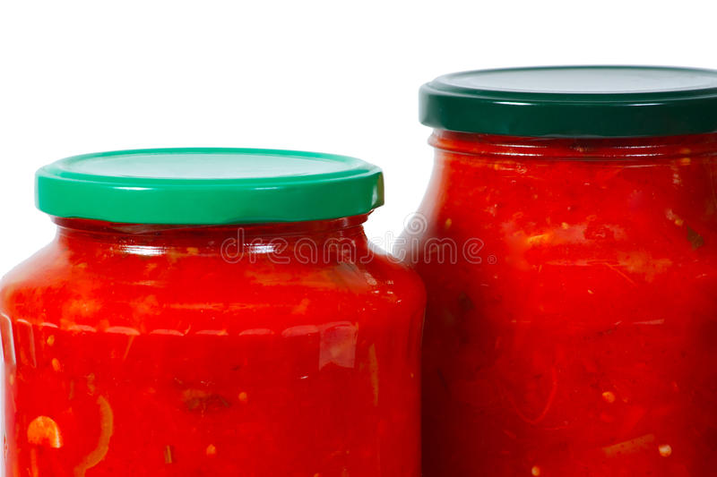 Home Canned Vegetables In Jars Royalty Free Stock Photos