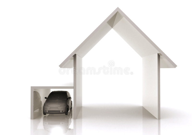 Home and car illustration
