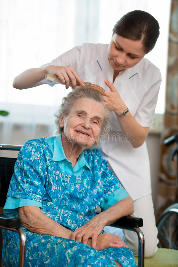 Download Home care stock photo. Image of grandmother, indoors - 25541484