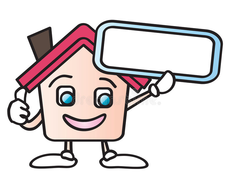 Home cartoon sign royalty free illustration