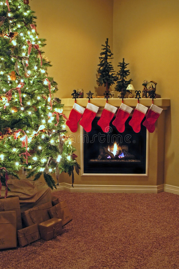 Download Home for christmas stock photo. Image of fire, home, presents - 1723714
