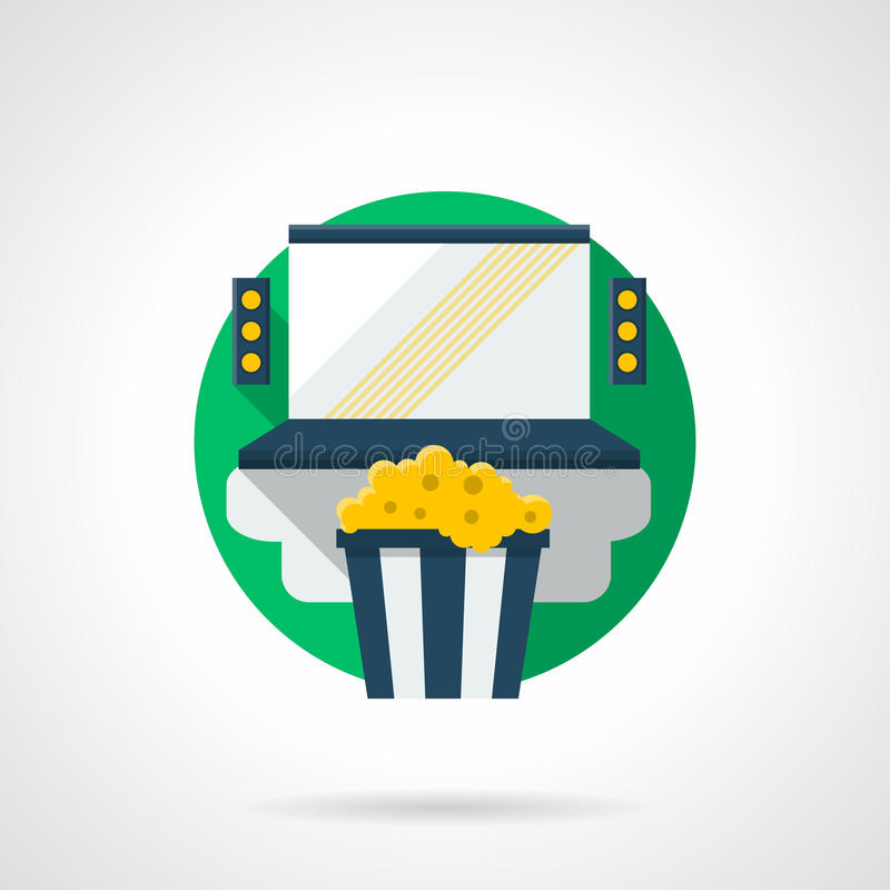 Home cinema color detailed icon royalty free illustration
