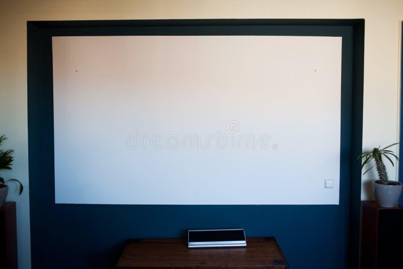 Home Cinema Display On Wall Stock Photos